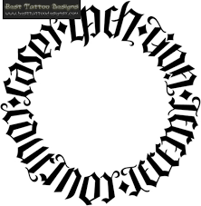 ambigram black ink circle tattoo design ambigram tattoo idea