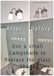 builder grade bathroom light fixture update for free