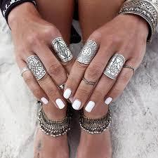 knuckle rings images Ring set antique tibetan gypsy boho knuckle rings boho joy jpeg