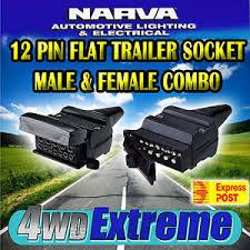 narva 12 pin flat male u0026 female trailer plugs connectors combo px