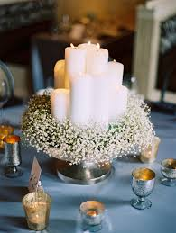 baby s breath centerpiece baby s breath and candle centerpiece elizabeth designs the