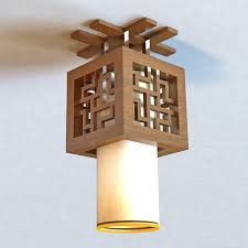 Japanese Ceiling Light Japanese Style Ceiling Light Fixture 3d Model 3ds Max Files Free