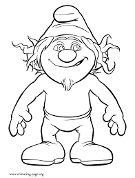 smurf coloring pages the smurfs hackus a naughty smurf coloring page