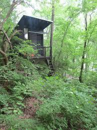 relaxshacks com a modern tree house tiny stilt house in tennessee