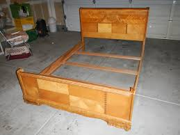 Art Deco Bedroom Furniture For Sale by 1947 Birch Art Deco Waterfall Bedroom Set For Sale Antiques Com