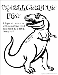 rex dinosaur coloring pages coloring