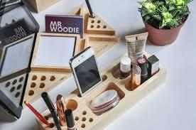 Makeup Organizer Desk Makeup Organizer Handmade Oak Desk Organizer Makeup Wood