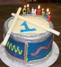 coolest children u0027s birthday cake ideas and drum cake designs