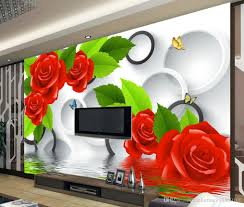 fashion decor home decoration for bedroom water roses tv