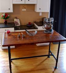 kitchen islands on casters kitchen industrial kitchen island pipe table prep style cart