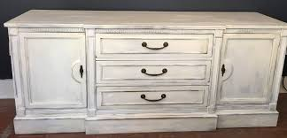 sold 829 vintage sideboard painted in ivory and distressed one