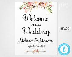Wedding Signs Template Printable Welcome To The Wedding Sign Printable Green Wedding