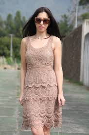 crochet dress and gladiator sandals amiclubwear