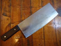 sold togiharu chinese style cleaver in carbon and rosewood img