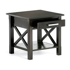 amazon com simpli home kitchener end table dark walnut brown