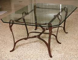 coffee table with iron base wrought iron coffee table furniture cole papers design