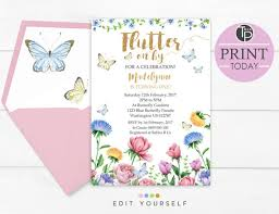 butterfly birthday invitation butterfly invitations instant