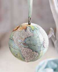 make your own world globe ornament using a wooden a map