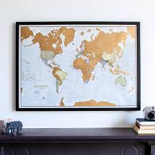 Large World Map Poster by Large Framed World Map