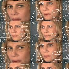 Meme Lady - confused math lady meme drawstring bags by richterr redbubble