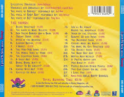 Credits To Barney And The by I Love To Sing With Barney Barney Songs Reviews Credits