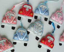 vw beetle ornament textile volkswagen beetle bug decoration