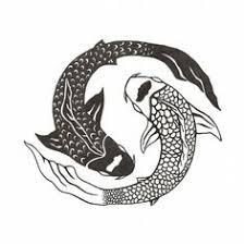 Ying Yang Tattoo Ideas Delicate Koi Pisces Yin Yang Tattoo Watercolor Painting