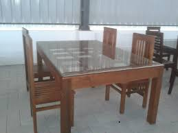 Wooden Dining Table Designs With Glass Top Dining Table Kerala Lakecountrykeys Com