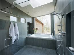 gray bathroom tile ideas bathroom bath tub tile surround natural light recessed cubby