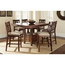 Dark Oak Furniture Furniture Of America Mullican Counter Height Display Top Dining