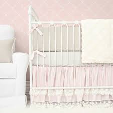 Boho Crib Bedding by Cora U0027s Vintage Pink Linen U0026 Lace Crib Bedding Caden Lane