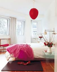 simple red bedroom design ideas with red carpet