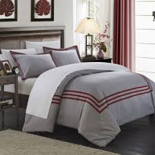 grey and red duvet cover 1817