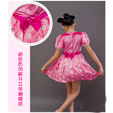 Pink Minnie Mouse Halloween Costume Free Shipping Cosplay Children Pink Minnie Mouse Costume