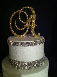 monogram cupcake toppers glitter cake topper monogram cake topper cake topper wedding