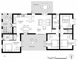 plan plain pied 5 chambres chambre inspirational plan maison plain pied 4 chambres avec suite