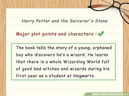 how to write a book summary with sle summaries wikihow
