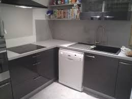 cuisine effet beton cuisine en bton cir top mortier credence cuisine beton cire blanc