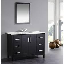 wyndenhall salem black 2 door 48 inch bath vanity set with white