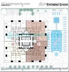 Marina Square Floor Plan Emirates Crown Floor Plans Justproperty Com