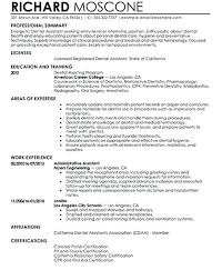 sample career summary samples of professional summary for a resume 2 dental assistant