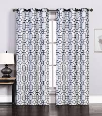pair of maritza jacquard silver charcoal window curtain panels w