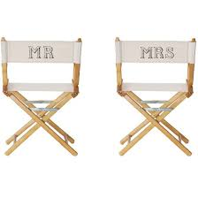 monogrammed director chair home
