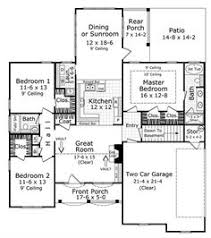 3 Bedroom Floor Plans With Garage 1600 Sf 3 Bedroom Modern Open Floor Plans 1600 Square Feet 3