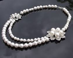 pearls swarovski necklace images Wedding vintage inspired necklace with backdrop lydia jules jpg
