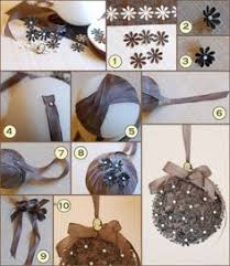 how to make a silk flower pomander ornament
