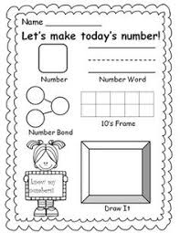 number of the day decomposing numbers writing numbers and