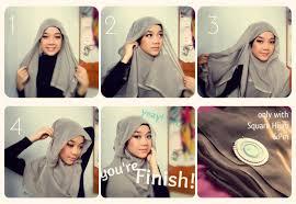 tutorial memakai jilbab paris yang simple cara memakai jilbab modern yang cantik dan simple hijab tutorial