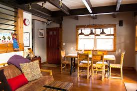 futon cushions in dining room rustic with raised panel door next