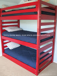 Triple Bunk Beds Our SpaceSaving Solution Amy Lynn Andrews - Three bunk bed
